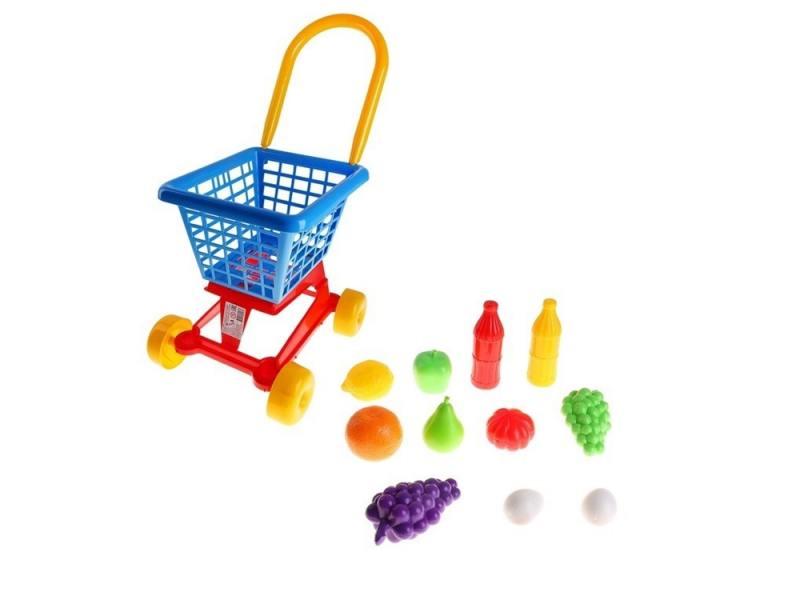 Полесье Тележка Supermarket №1 + набор продуктов (в сеточке) 42989