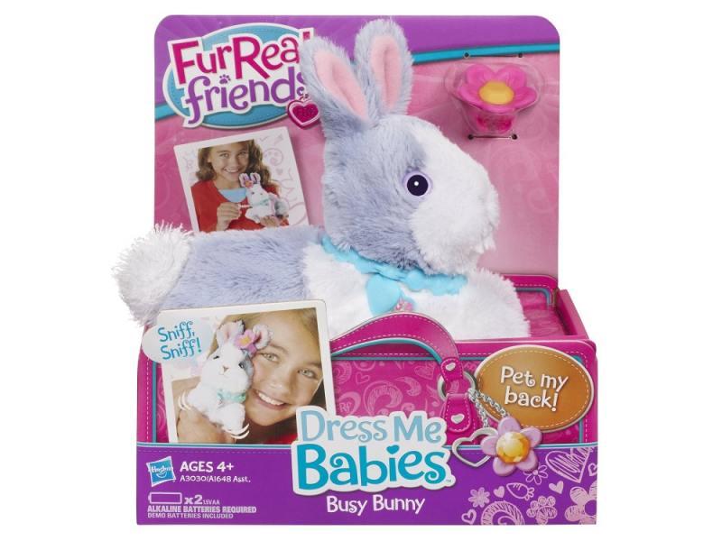 Интерактивная игрушка Hasbro Fur Real Friends Модные зверята Зайчик от 4 лет голубой А1648