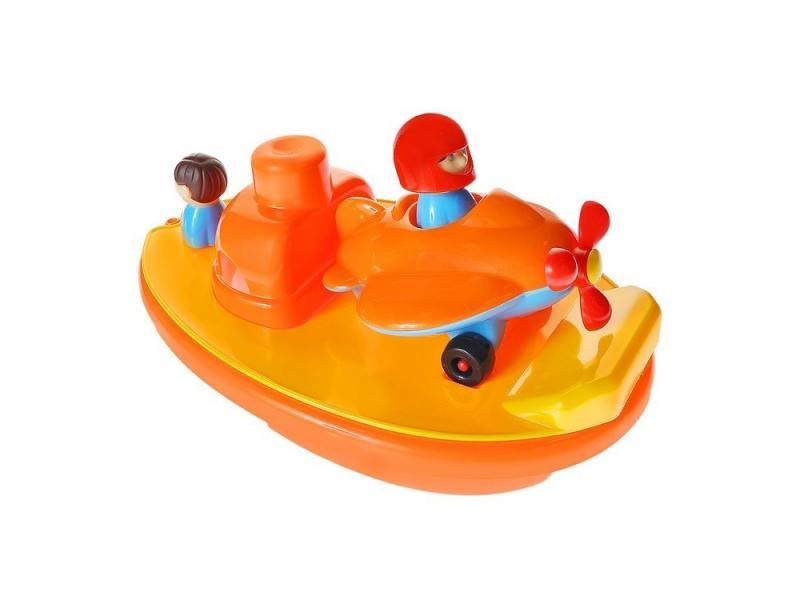 Интерактивная игрушка Gowi Лодка-авианосец от 3 лет оранжевый 559-58