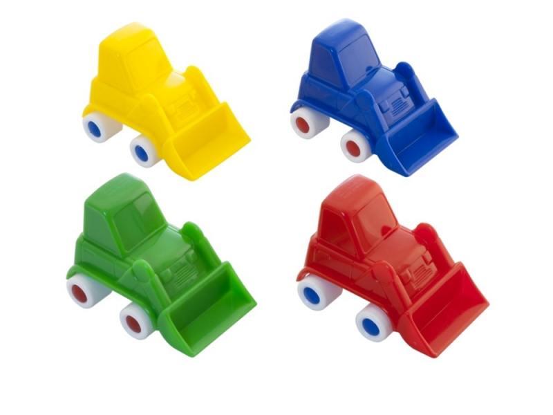 Мини-машинка Miniland Бульдозер, 9 см. красный 27506
