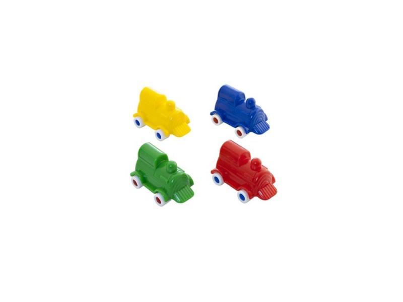 Мини-машина Miniland Локомотив, 9 см. синий 27501 мини машинка miniland такси 9 см синий 27507