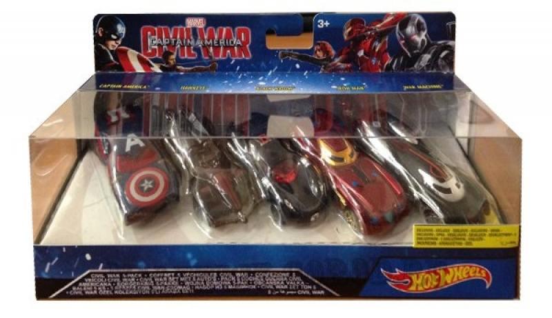 Машинки персонажей комиксов Marvel Hot Wheels набор 5шт DJT61