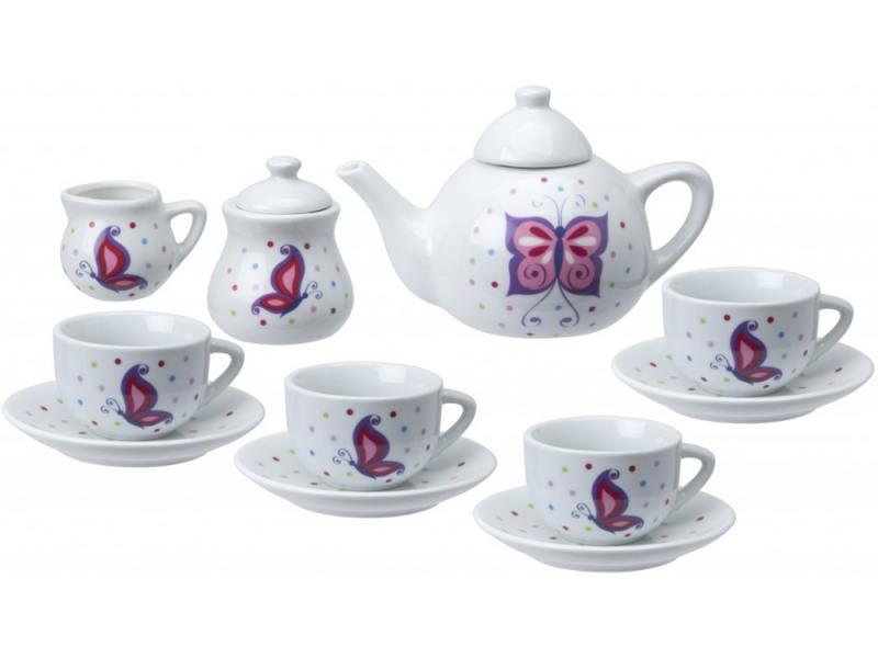 Чайный сервиз Поймай бабочку, керамика, 13 предм., от 8 лет alex чайный сервиз бабочки в саду