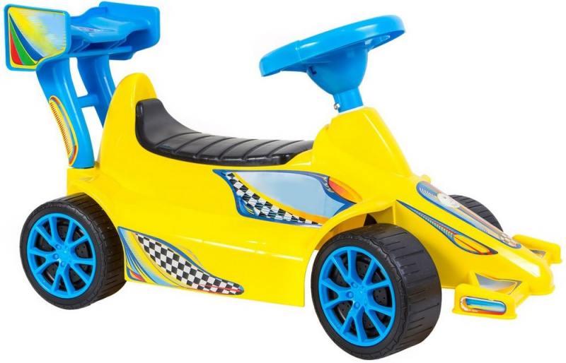 ОР894 Каталка Гоночный Спорткар Super Sport 1 цвет желтый 5310 каталка rich toys гоночный спорткар super sport 1 пластик от 10 месяцев черно красный ор894
