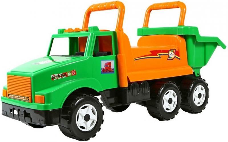ОР211 Каталка самосвал МАГ с кузовом, 6 колёс зеленая  5567 rt ор211 каталка самосвал маг с кузовом 6 колёс зеленая