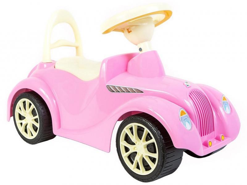 ОР900 Каталка машинка Ретро с клаксоном розовая 5314