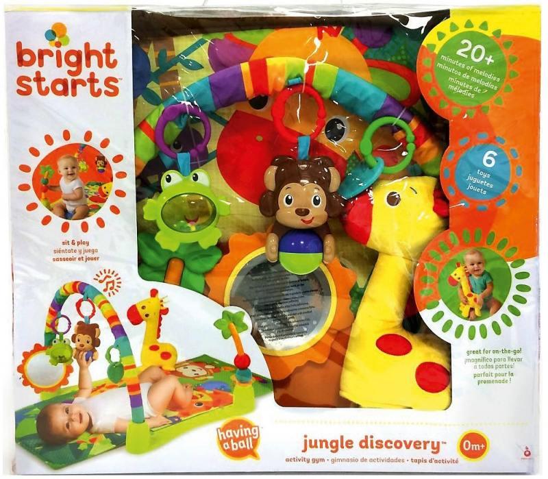 Купить Развивающий коврик «Джунгли», Bright Starts, Игрушки
