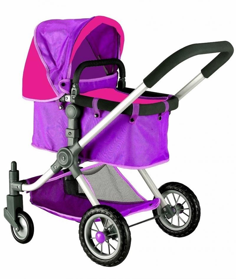 Кукольная коляска RT цвет фиолетовый-фуксия 646 коляска для куклы rt 646 фуксия серый