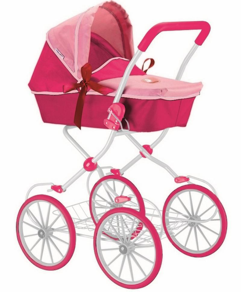Кукольная коляска RT цвет фуксия+розовый 603 rt 603 5179