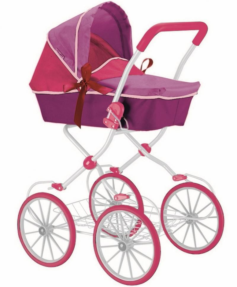 Кукольная коляска RT цвет фиолетовый+фуксия 603 rt 603 5179