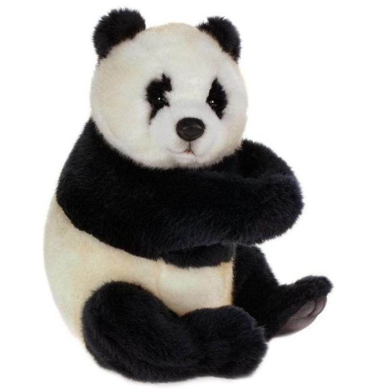 Панда сидящая, 25 см 4184 мягкие игрушки hansa обезьянка сидящая палевая 20 см