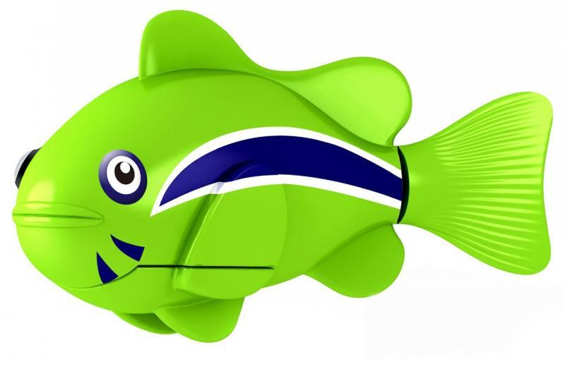 РобоРыбка Клоун (зеленая) 2501-1 zuru роборыбка клоун желтая robofish