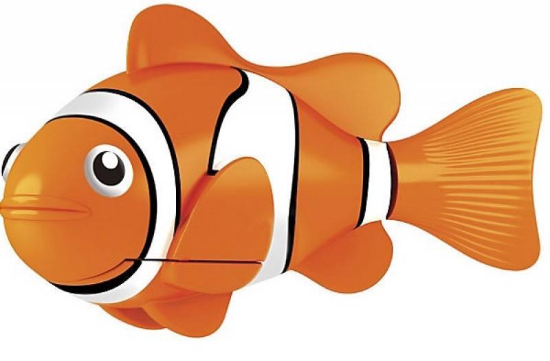 РобоРыбка Клоун (желтая) 2501-4 zuru роборыбка клоун желтая robofish