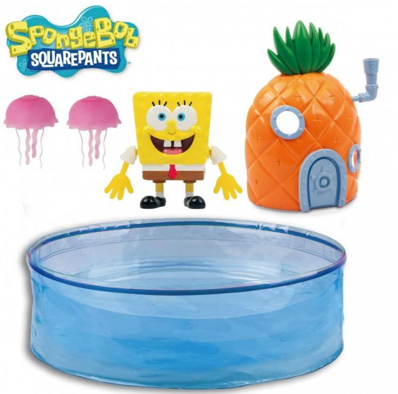 Набор Спанч Боб с аквариумом и домиком 5302 robofish игрушка для ванны спанч боб