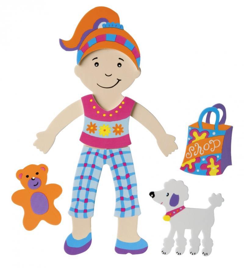 Набор фигурок-стикеров для ванны Одень куклу, от 3 лет 806 alex набор фигурок стикеров для ванны друзья