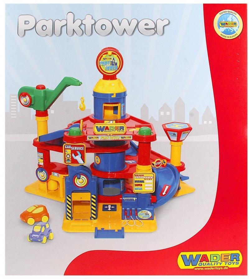 Купить Паркинг Wader 4-уровневый с автомобилями 37855, Игрушки