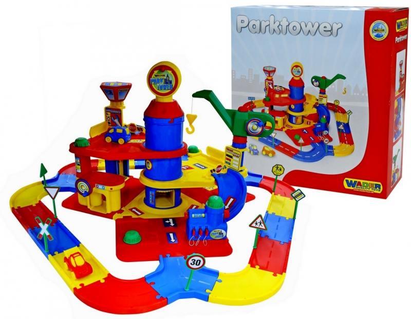 Купить Паркинг Wader 3-уровневый с дорогой и автомобилями 37862, Игрушки