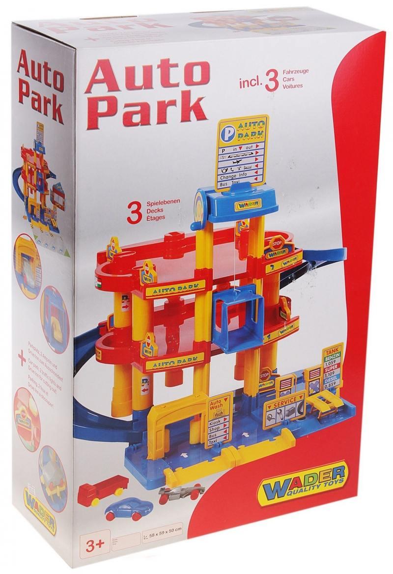 Купить Паркинг Wader 3-уровневый с автомобилями 37893, Игрушки