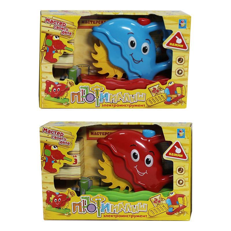 Игровой набор 1 Toy Малыш-профи Электрическая циркулярная пила 1toy электрическая цепная пила малыш профи