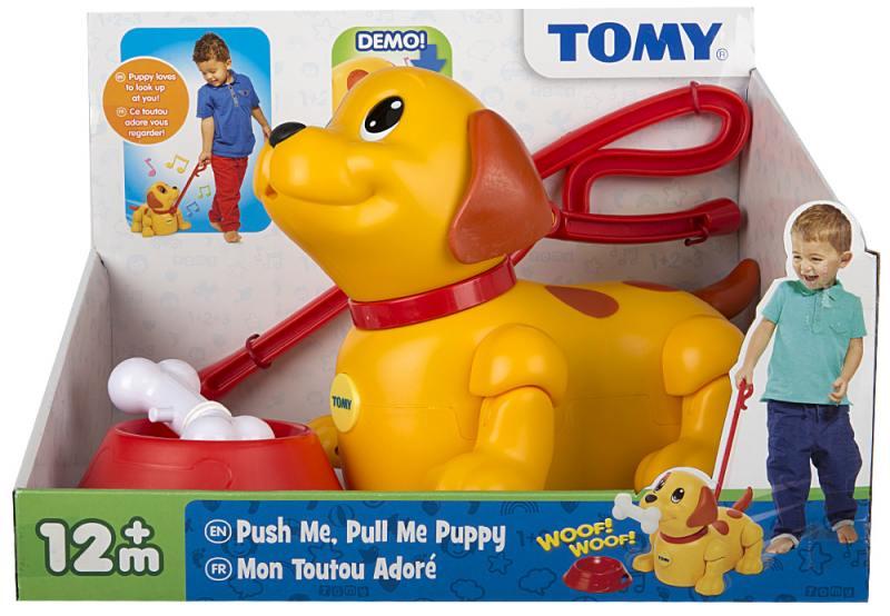 Интерактивная игрушка Tomy Щенок Погуляй со мной tomy farm приключения трактора джонни и поросенка на ферме