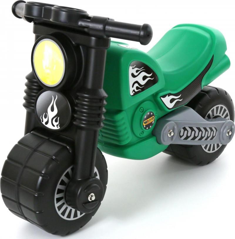 Каталка-мотоцикл Моторбайк цвет зеленый 40480 автомобильное зарядное устройство ainy eb 018k с 2 мя usb 1a 2 4a серое