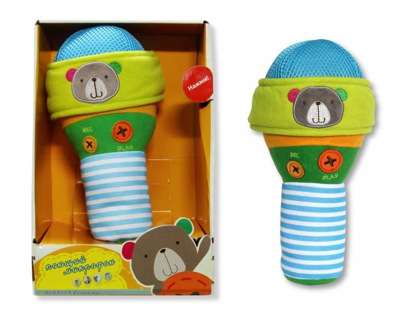 Купить Плюшевая интерактивная игрушка - микрофон bobbie & friends с тремя режимами воспроизведе, 1toy, Игрушки