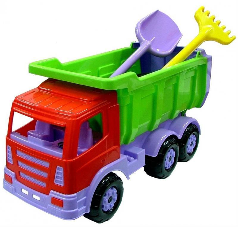 Автомобиль-самосвал Wader Премиум c большой лопатой и большими граблями 9851 игрушка wader super tech truck c грузовиком 36710
