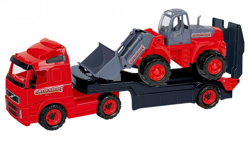 Автомобиль-трейлер Wader + трактор-погрузчик 2371