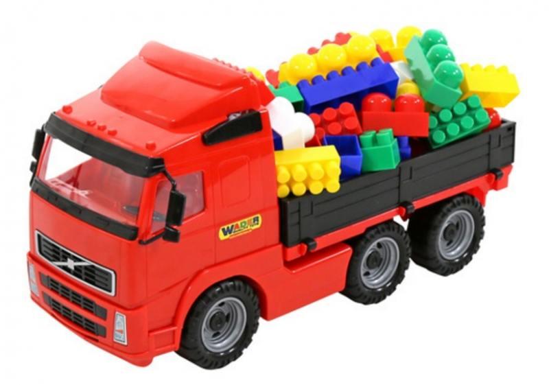Купить Автомобиль бортовой Wader+конструктор СУПЕР-МИКС 60 элементов (в коробке)9739, Игрушки