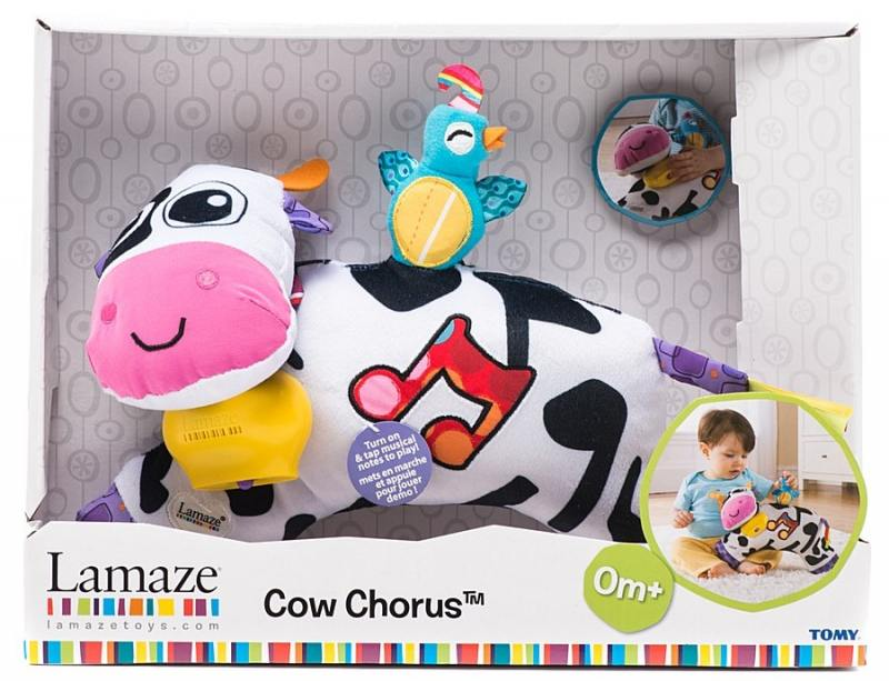 Tomy Lamaze музыкальная мягкая игрушка Музыкальная КоровкаТО27560 tomy bath друзья дельфины e6528