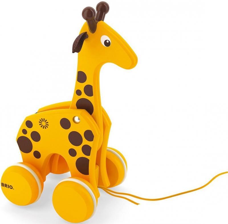 Каталка на шнурке Brio Жираф