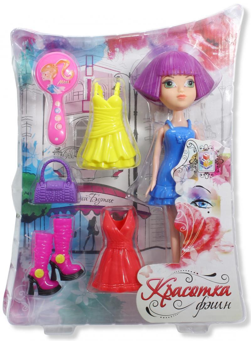 Красотка фэшн кукла с аксессуарами Т57127 кукла с аксессуарами 1toy т57129