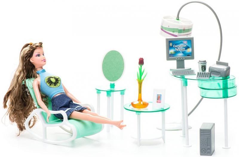 Набор мебели для кукол: офис - «Красотка» Т54498