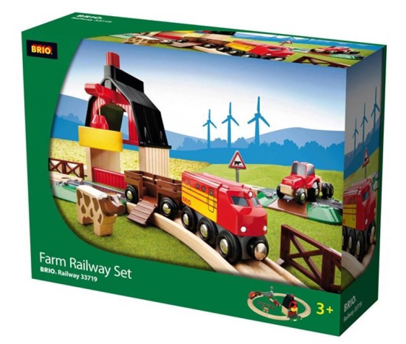 Железная дорога Brio с мини-фермой и кормушкой brio лошадка с попоной и всадник 33793