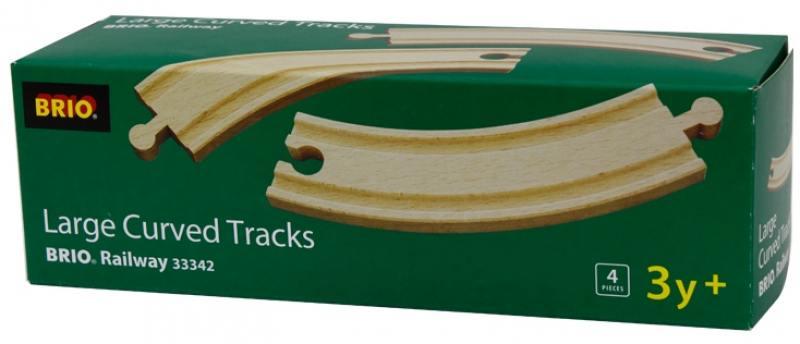 Железная дорога Brio полотно закруглённое 33342 механический перкресток brio