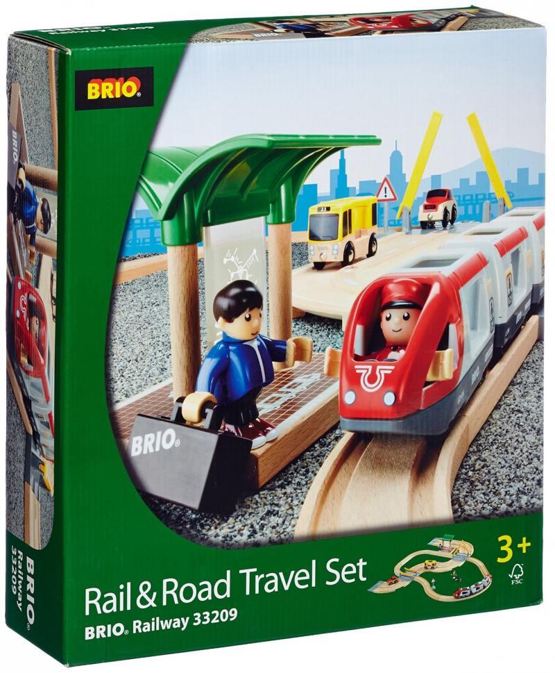Железная дорога Brio Станция с переездом 33 элемента с 3-х лет