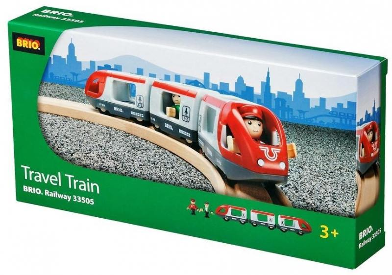 Поезд Brio Экспресс Пассажирский 5 элементов 33505 железные дороги brio ж д переезд 26 элементов