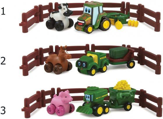 Игровой набор Tomy Приключения трактора Джонни и его друзей на ферме машинки tomy трактор john deere monster treads с большими резиновыми колесами tomy