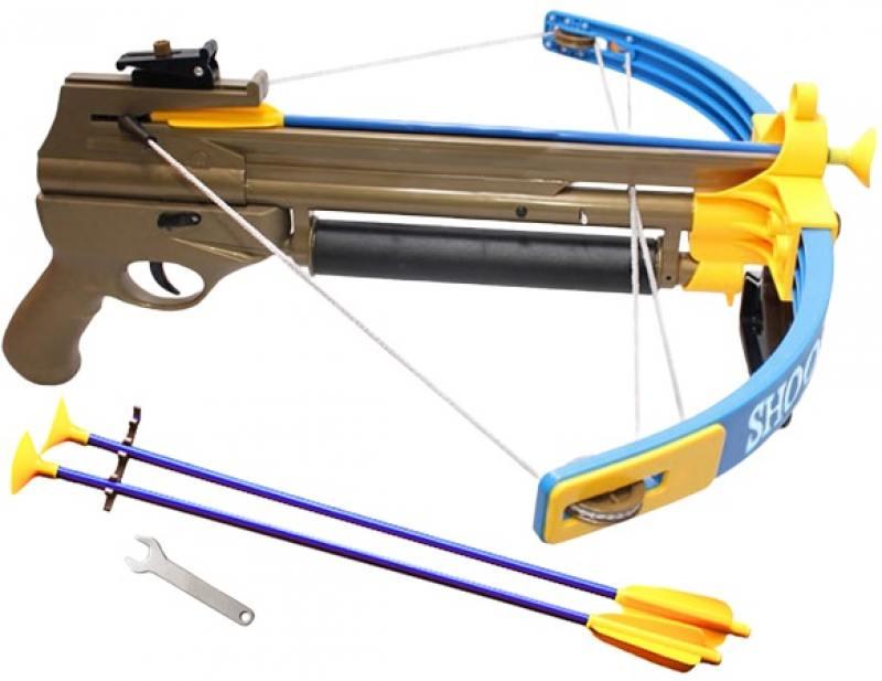 S+S Арбалет со световыми эффектами 36,5*3*100см СС75478 игрушечное оружие s s toys арбалет со световыми эффектами