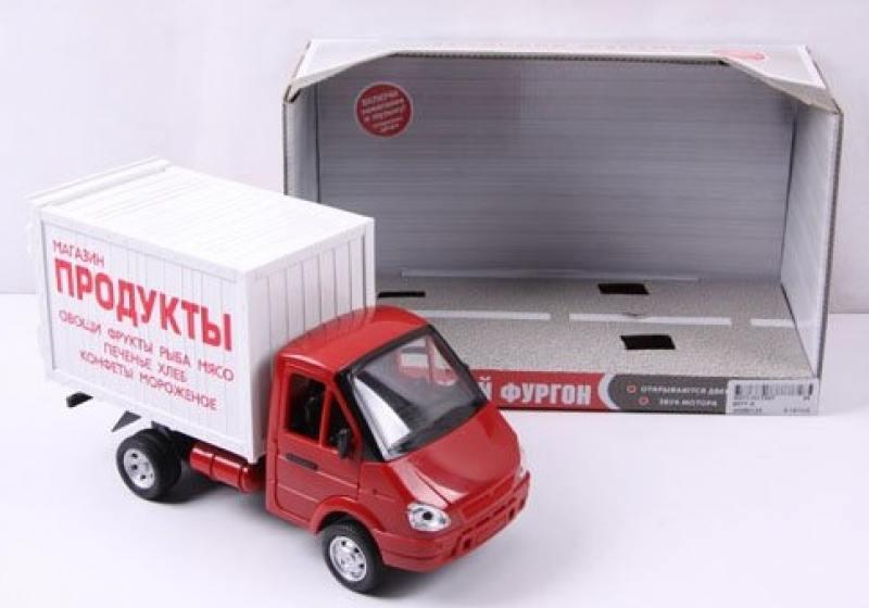 Газель фургон Продукты Play Smart инерц. машина со светом и звуком. откр. дверь, 24 см. игрушка play smart газель 3221 пожарная р40526