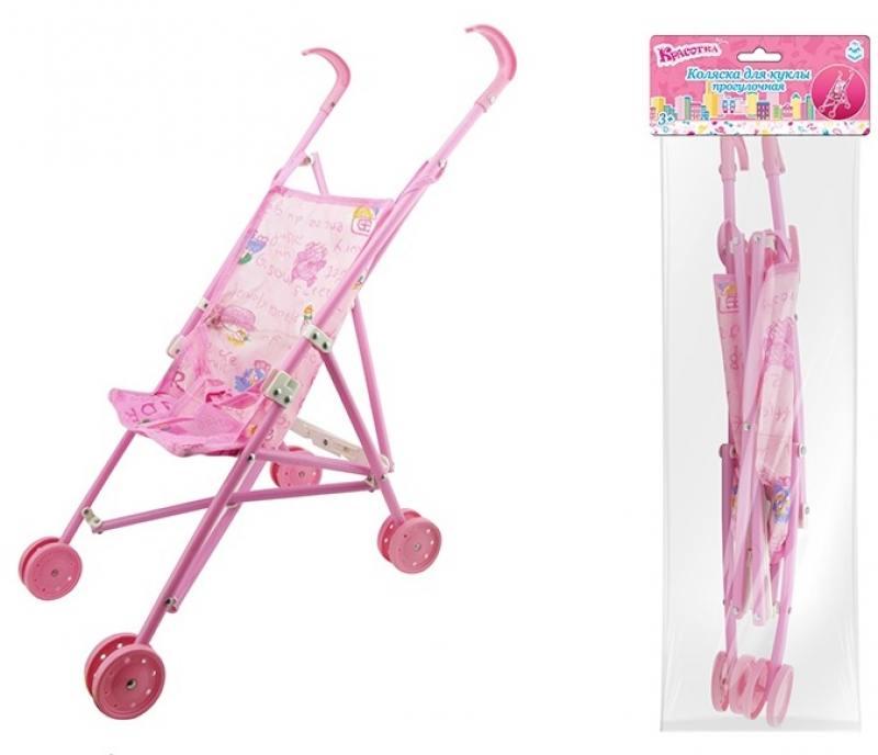 Купить 1toy Коляска д.куклы прогулочная, пакетТ58755, Игрушки
