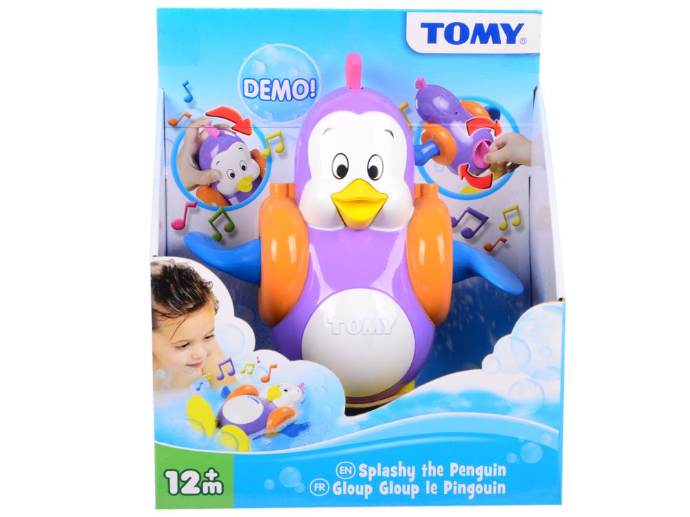 Заводная игрушка Tomy для ванны Плескающийся Пингвин игрушка для купания для ванны tomy крокодил на водных лыжах