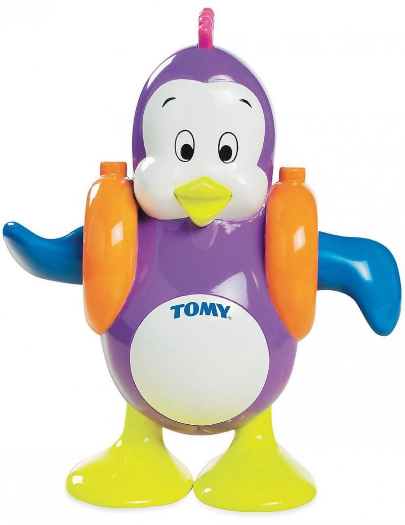 Заводная игрушка Tomy для ванны Плескающийся Пингвин заводная игрушка для ванны бобер серфингист звук