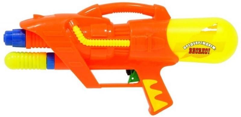 Водный пистолет Тилибом с помпой 37х17 см смехторг зонтик шляпа