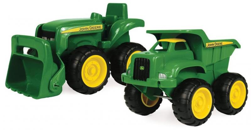 Игровой набор Трактор и самосвал John Deere Tomy машины tomy трактор john deere 6210r