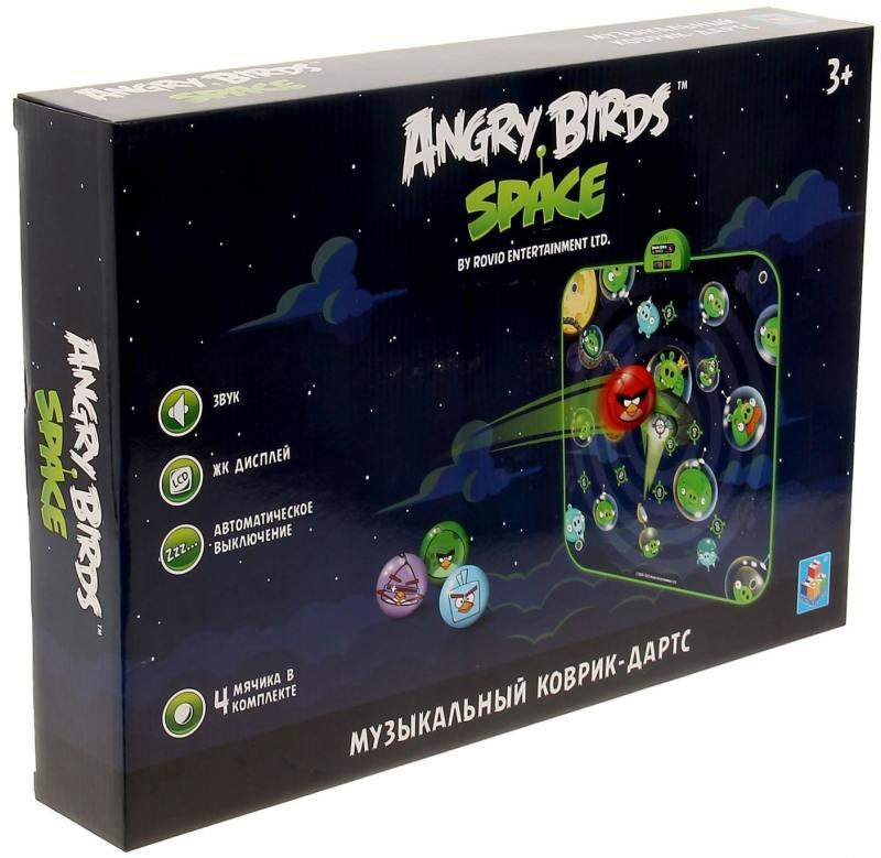 Музыкальный коврик-игра дартс Angry Birds спейс ледянки 1 toy angry birds 94 см т56333