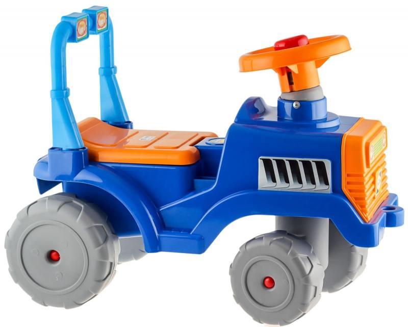 Каталка Трактор В RT сине-оранжевый ОР931  5618 каталка беговел трехколёсный rt самоделкин сине желтая т2759