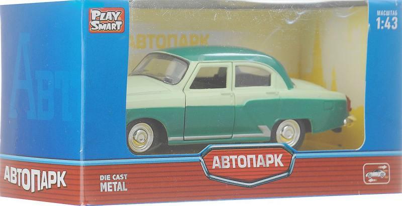 Инерционная металлическая машинка Play Smart Автопарк Волга Газ-21 Р41137 аварийная служба play smart автопарк оранжевый 8887856414418