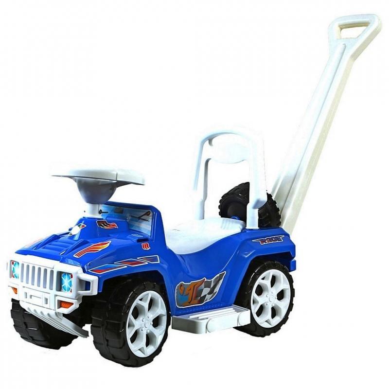 Каталка-машинка Rich Toys Mini Formula 1 пластик от 10 месяцев с ручкой для родителей синий ОР856