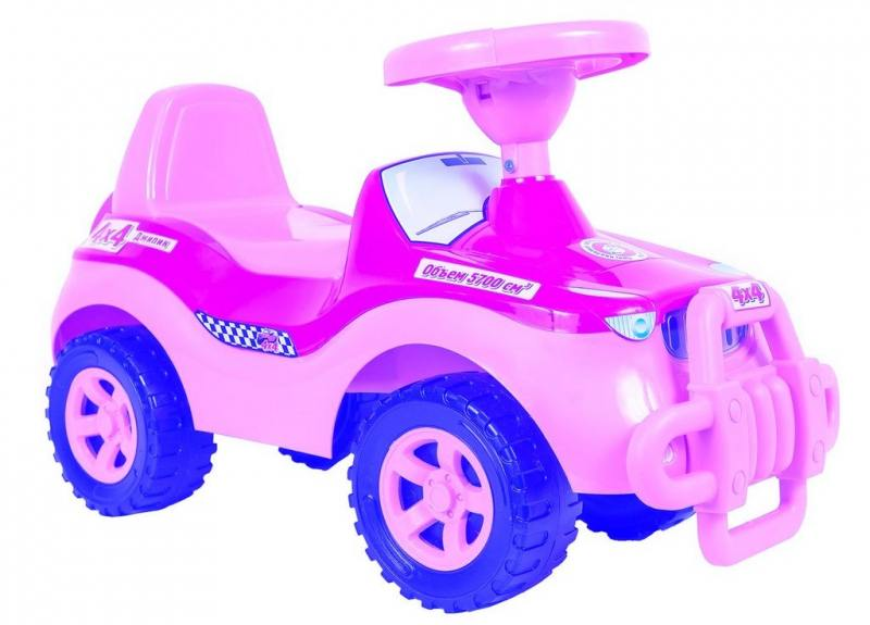 Каталка-машинка RT Джипик POLICE с клаксоном розовая ОР105